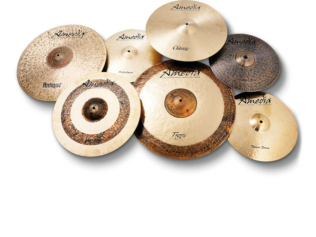 Amedia Crash, Ride and Hi-hat Cymbals (from £115)