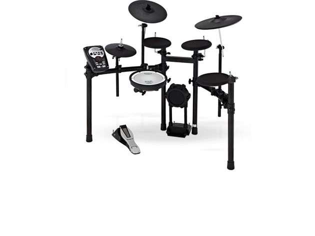 The TD-11K has a dual-zone PDX mesh pad for the snare and all-rubber models for each of the others drums