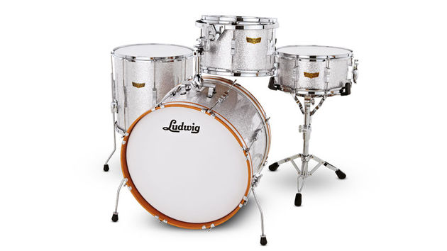 The Club Date kit recalls Ludwig's student kit of the '60s