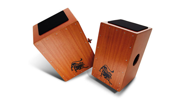 The 3-in-1 Cajon (right) features plywood construction and comes resplendent in hand-applied 'Natural' wax satin finish