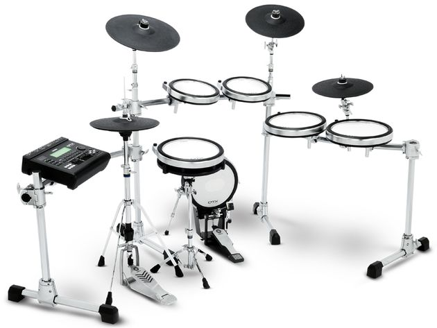 "Yamaha treat us to a 12"" snare, two 10"" high toms, a pair of 12"" low toms, two 13"" 'crash' pads and a 15"" 'ride'"