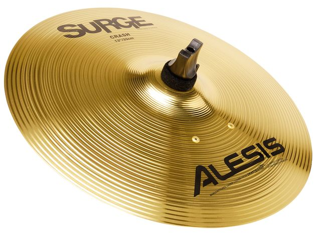 "The Surge Cymbals are a great addition. The 13"" crash and triple-zone 16"" ride are chokeable and feel nicely metallic under the stick"