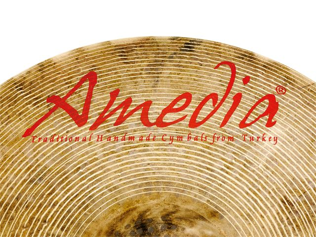 Amedia says the cymbals' distinctive colour is due to a unique, secret alloy