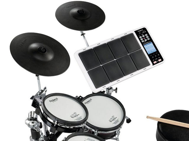 Adding on V-Drum pads provide a real compact-but-playable 'full kit' experience
