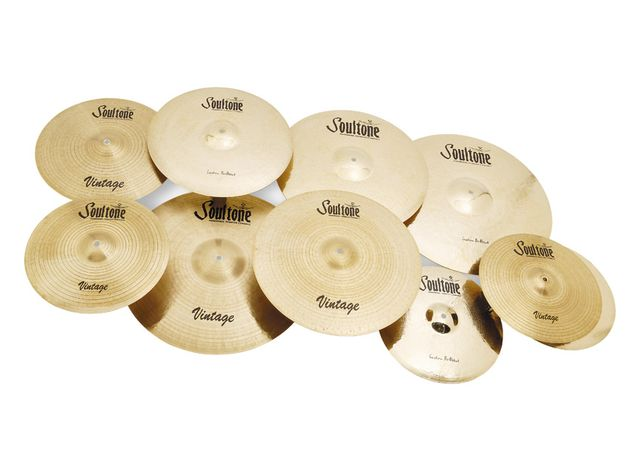 Soultone Cymbals - Vintage and Custom Brilliant ranges (from £200)