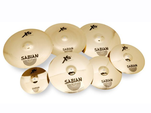 Sabian Xs20 Brilliant Finish Cymbals (£486 for 3-piece set)