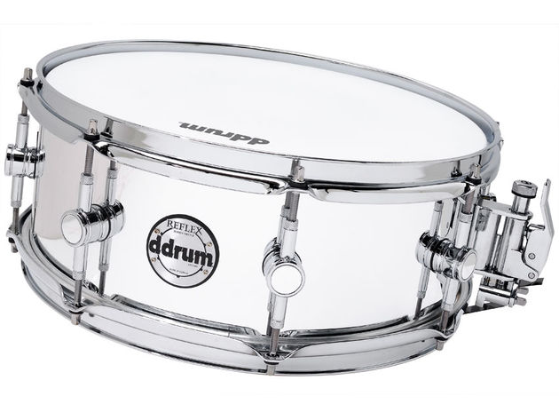 The Reflex's snare may feature a number of high-end components, but has just the eight lugs
