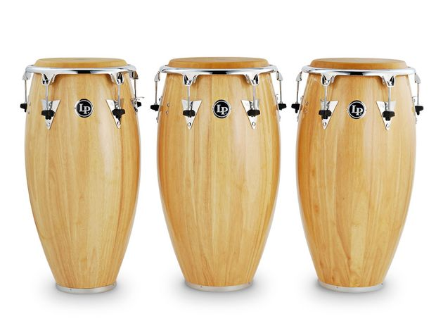 The congas are stave-constructed from substantial Siam Oakwood.