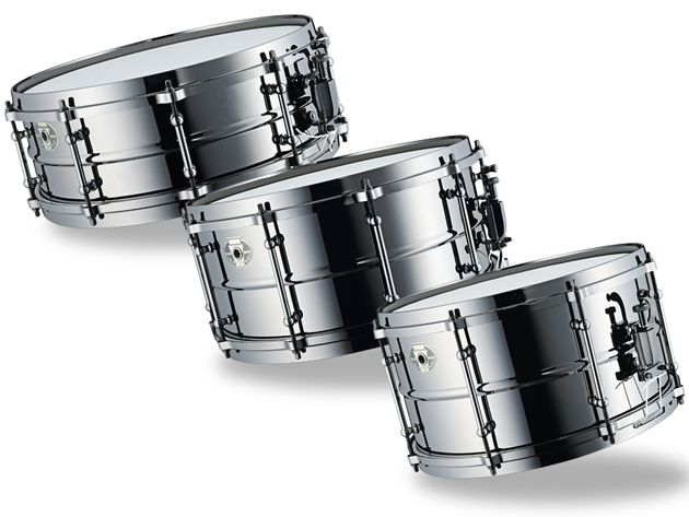 These are bright metallic drums that are alive with harmonics