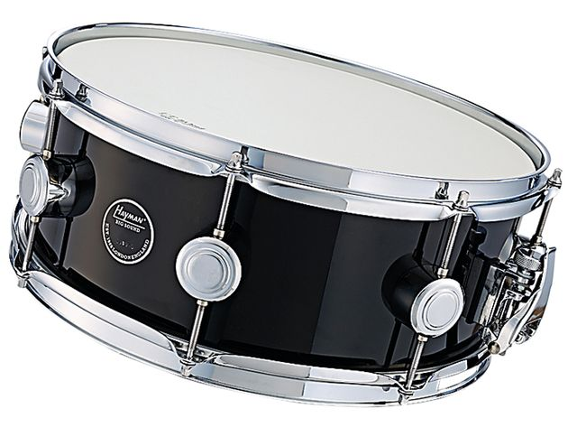 The snare is light and has only eight lugs where the original Hayman had 10