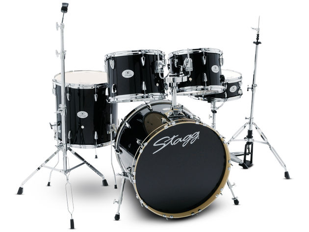 The kit features six-ply basswood shells in standard five-piece configuration