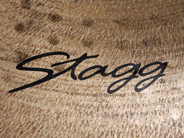 The cymbals feature the familiar Stagg logo, as well as a new art deco-style VB.