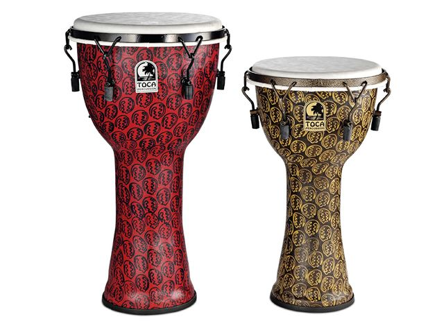 All models have an oversized upper bowl that expands the drums' bass response.