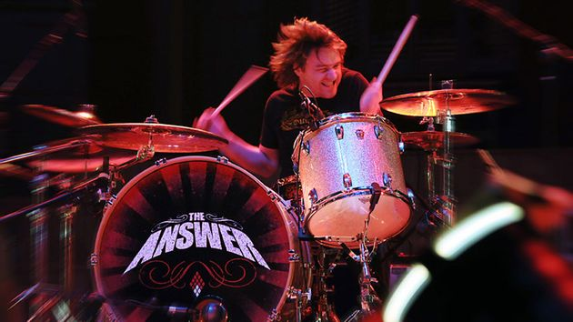 James Heatley of The Answer in full flow...