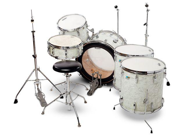 Ludwig White Marine Pearl kit