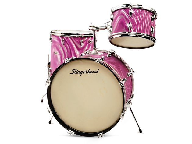 Slingerland Satin Flame Pearl kit