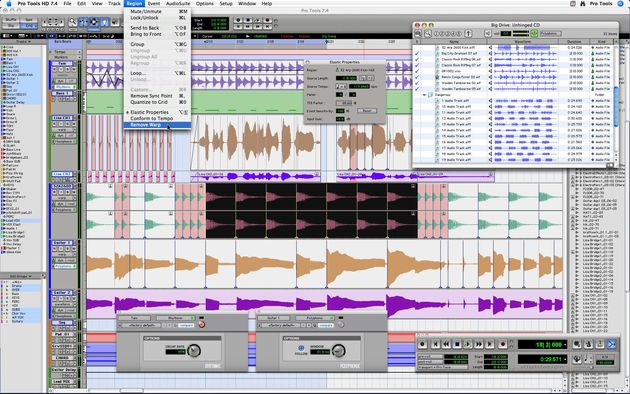 Imported audio will sync to your project's tempo in Pro Tools 7.4