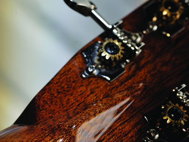 The guitar's scale length helps to maintain alternate tunings.