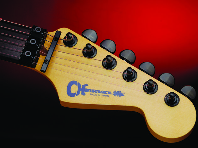 The Wild Card's Strat-style headstock.