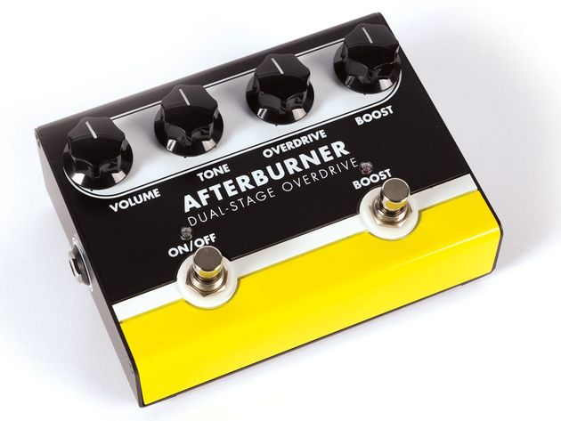 Dual-stage overdrive comes via the boost stomp-switch.