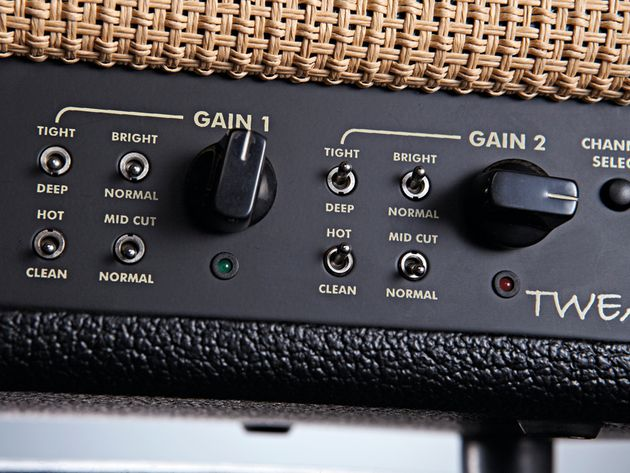 Each Gain control has four extra switches for added tweakability.