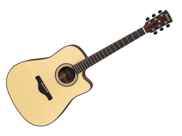 At 22mm deep the Ibanez AW3010CE-LG's neck is far slimmer than those found on many acoustics, tempting us into Rodrigo y Gabriela-style shred.