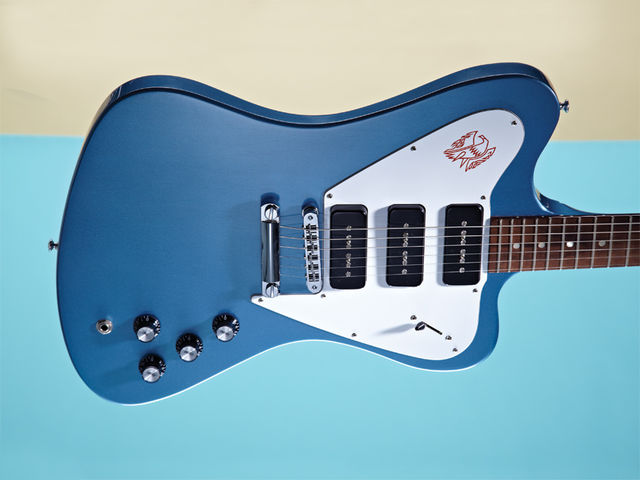 You can access more tones than you can shake a pick at thanks to the Firebird Studio's trio of coil-tapped P90s.