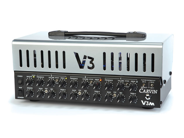 Carvin's V3M Micro Amp fairly bristles with functionality.