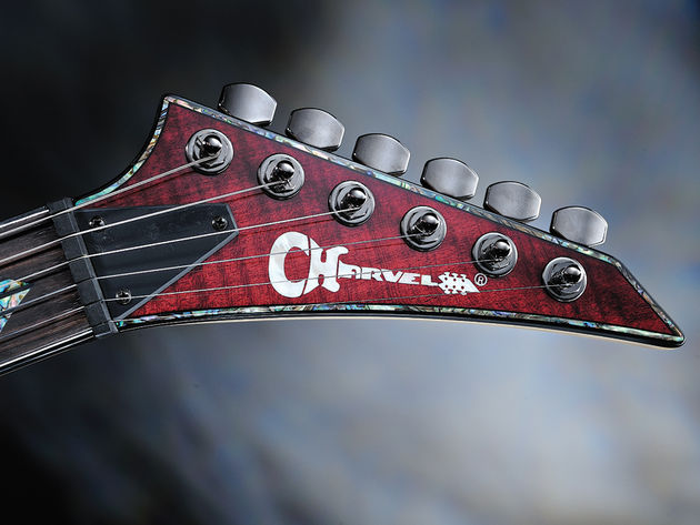 This guitar could only be more flashy if it had its own light and laser show.