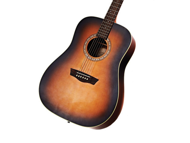 The Washburn WD7S's tobacco finish is nothing short of stunning - especially when you consider its price.