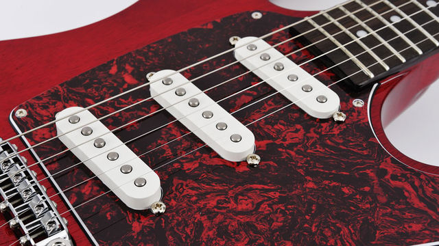 The DiMarzio Injector pickups are also Paul Gilbert signature models
