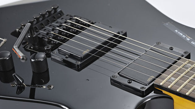 ESP'S ALH-200 active humbuckers are shred-serviceable, but we'd much rather the EMG-81/60 combo of the KH-2