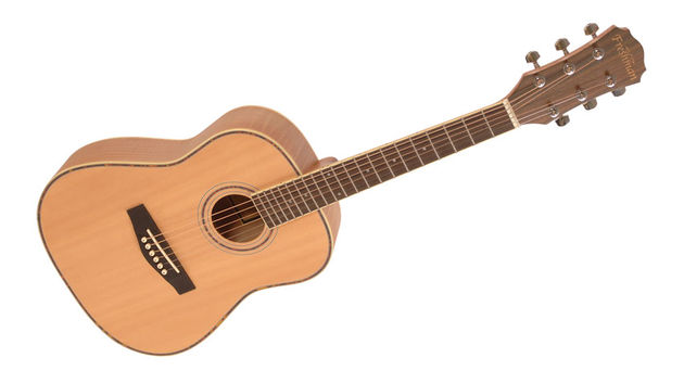 A-grade solid Sitka spruce top, flamed maple back and tortoiseshell binding: all very slick and professional