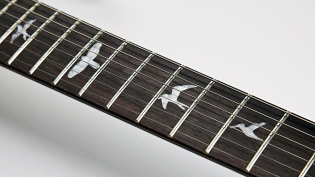 This particular model sports PRS's Wide Thin neck profile