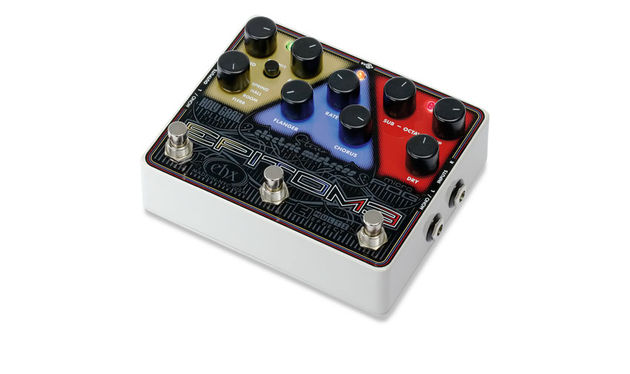 The Epitome combines Electro-Harmonix's Micro POG, Electric Mistress and Holy Grail Plus effects in one box