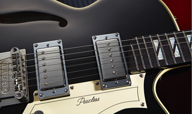 The US-designed Stetsbar vibrato features excellent tuning stability