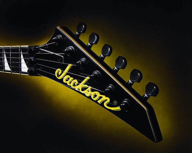 The distinctive Jackson headstock is a modern classic