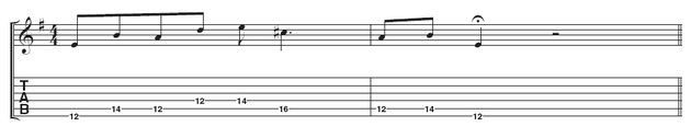 Example 3: Alex plays with a swing feel to sound jazzier. He also really hangs on the C# to bring out the Dorian sound. The melody moves around unexpectedly, so be careful your fingers don't trip over each other.