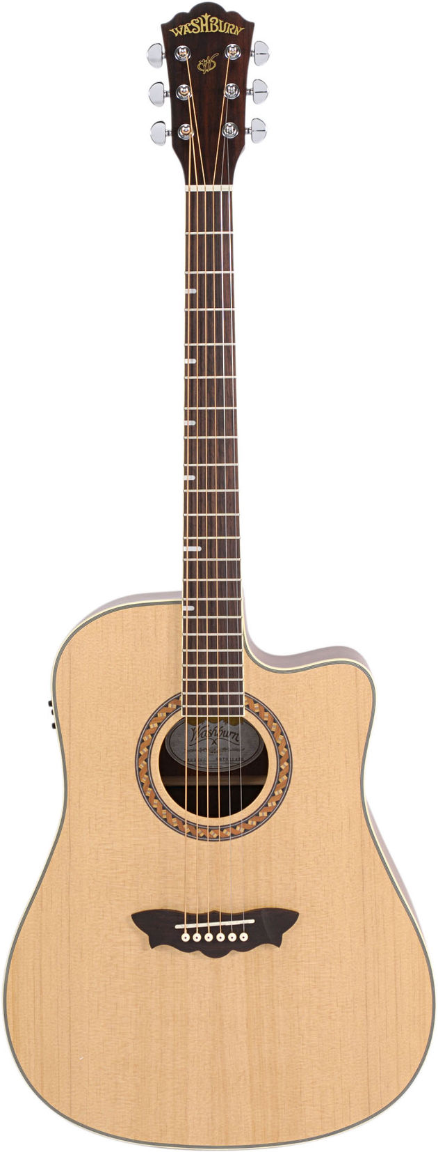 The WD32SCE has a solid spruce top with a satin finish.