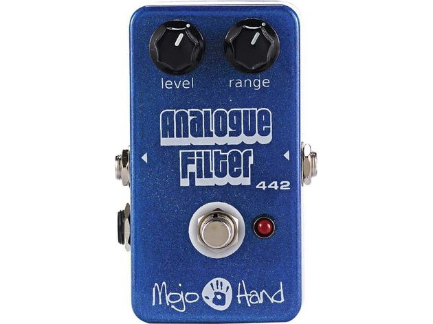 Check out this funky blue pedal!