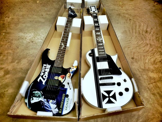 LTD Hammett KH-WZ White Zombie & Hetfield Iron Cross SW