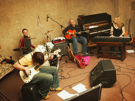 Band rehearsing