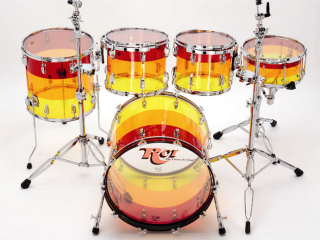 RCI Starlite acrylic drum kit