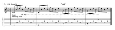 EXAMPLE 9: satriani-style add11