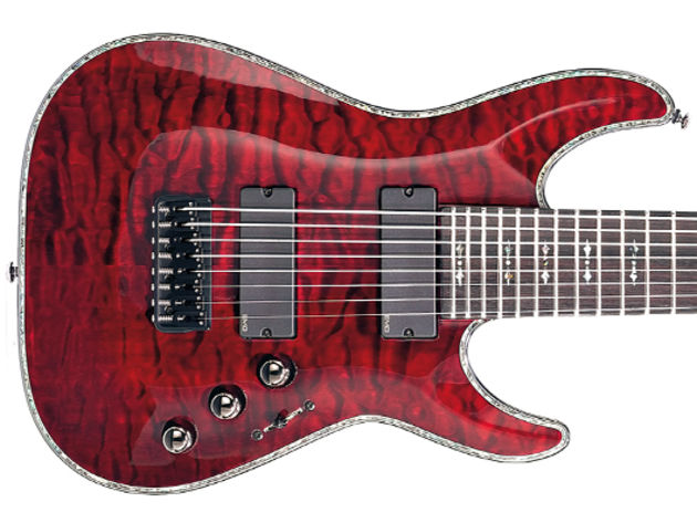 Schecter Hellraiser C-8 build and features