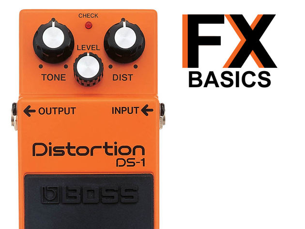 The BOSS DS-1 distortion pedal