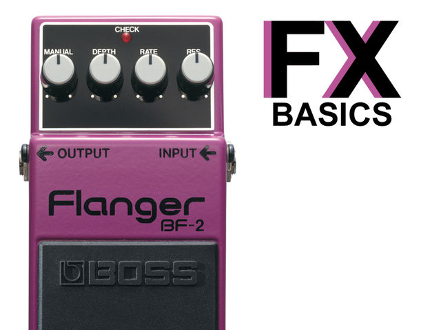 Flanger is a colourful effect. Here's one in purple.