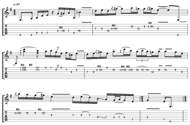 This is a really long solo, so make sure you learn it in chunks