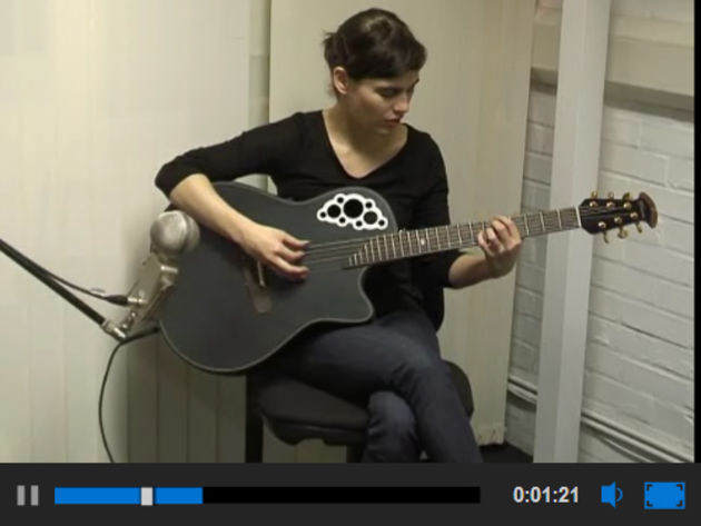 Kaki King on the acoustic guitar