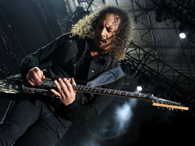 Kirk Hammett's soloing is surprisingly bluesy
